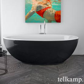 Tellkamp Neon freestanding, oval whirl bath white gloss, panel black gloss