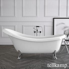 Tellkamp Nostalgia freestanding oval bath white gloss, panel white gloss