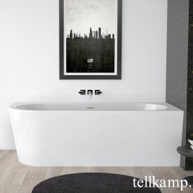 Tellkamp Pio compact bath with panelling white gloss, panel white gloss, without filling function