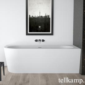 Tellkamp Pio L corner bath, left version matt white, panel matt white