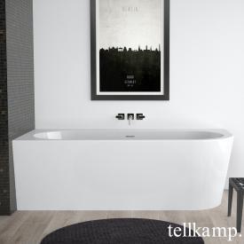 Tellkamp Pio Baignoire balnéo d'angle blanc brillant, tablier blanc brillant