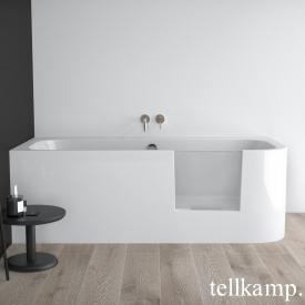 Tellkamp Salida compact bath with shower zone and panelling white gloss, without filling function