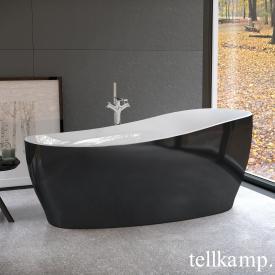 Tellkamp Sao freestanding oval bath white gloss, panel black gloss, without filling function