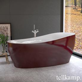Tellkamp Sao freestanding, oval whirl bath white gloss, panel red gloss