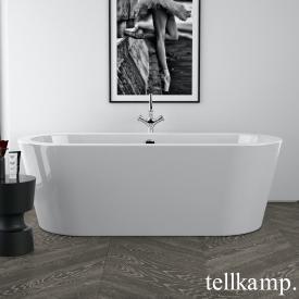 Tellkamp Solitär freestanding oval bath white gloss, panel white gloss, without filling function