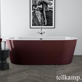 Tellkamp Solitär freestanding, oval whirl bath white gloss, panel red gloss