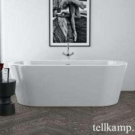 Tellkamp Solitär freestanding, oval whirl bath white gloss, panel white gloss