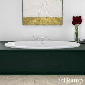 Tellkamp Space Fix oval bath white gloss, without filling function