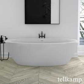 Tellkamp Space freestanding, oval whirl bath matt white, panel matt white