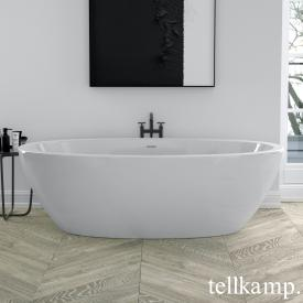 Tellkamp Space freestanding, oval whirl bath white gloss, panel white gloss