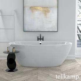 Tellkamp Space freestanding oval bath white gloss, panel white gloss, without filling function