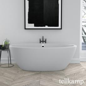 Tellkamp Space freestanding, oval whirl bath matt white, panel matt white