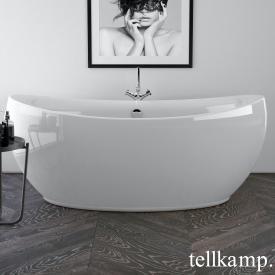 Tellkamp Spirit Baignoire balnéo ovale en îlot blanc brillant