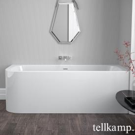 Tellkamp Thela Baignoire balnéo d'angle blanc brillant