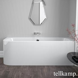 Tellkamp Thela compact bath with panelling white gloss, with filling function via overflow