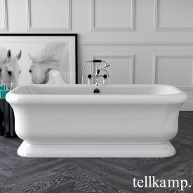 Tellkamp Vintage Baignoire rectangulaire en îlot blanc brillant