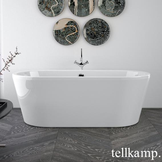Tellkamp Easy freestanding oval bath white gloss, panel white gloss