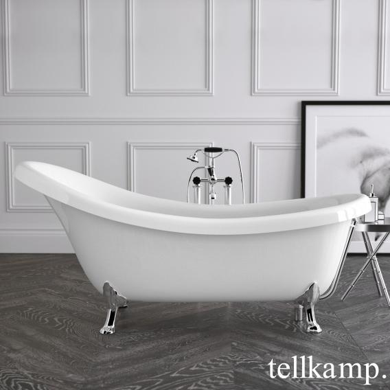 Tellkamp Nostalgia freestanding oval bath white gloss, panel white gloss