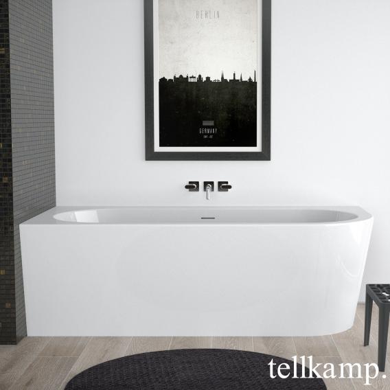 Tellkamp Pio R corner bath, right version white gloss, panel white gloss