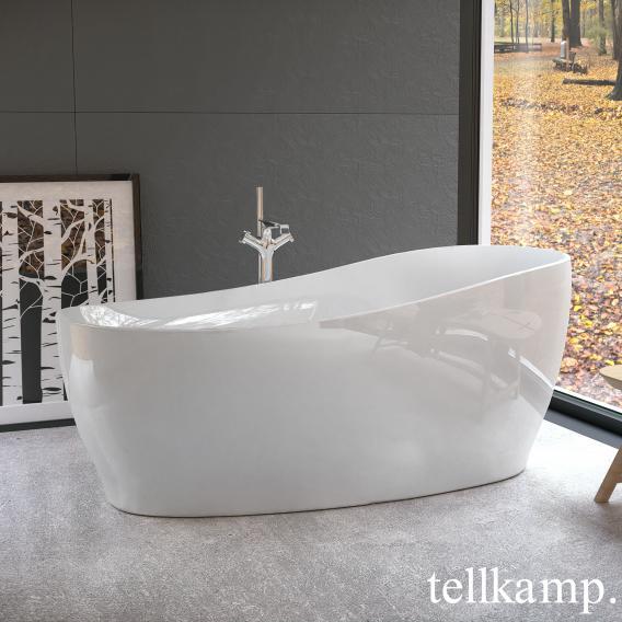 Tellkamp Sao freestanding oval bath white gloss, panel white gloss, without filling function