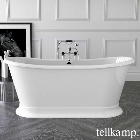 Tellkamp Scala Base freestanding oval bath white bath, chrome waste set