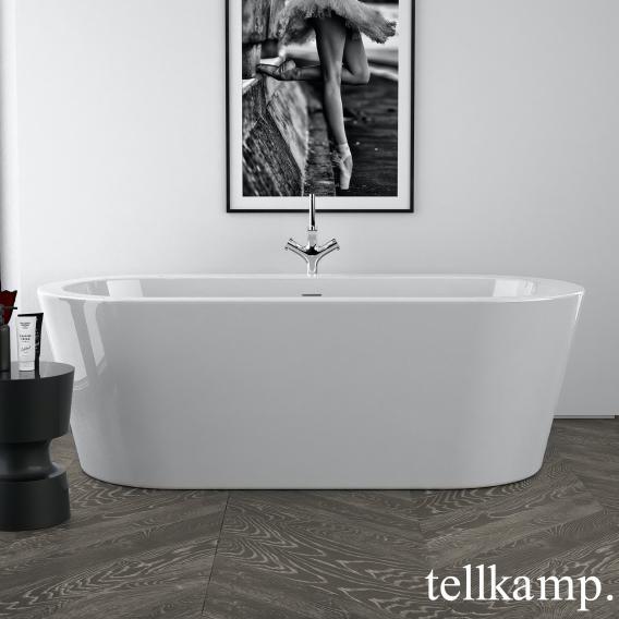 Tellkamp Solitär freestanding, oval whirl bath white gloss, panel white gloss