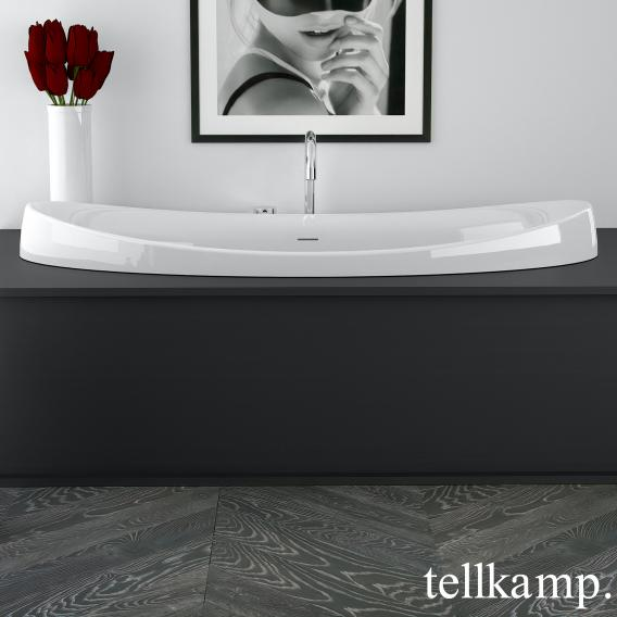 Tellkamp Spirit Fix oval bath white gloss, without filling function
