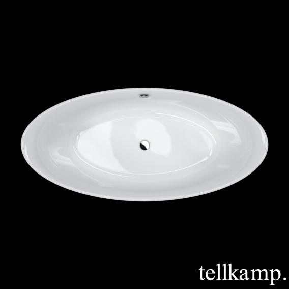 Tellkamp Spirit freestanding oval bath white gloss, without filling function