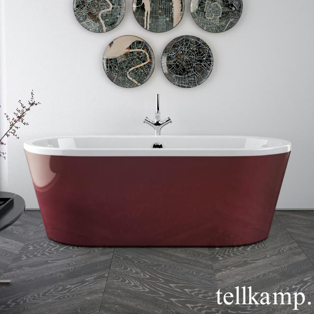 Tellkamp Easy freestanding oval whirlbath white gloss, panel red gloss
