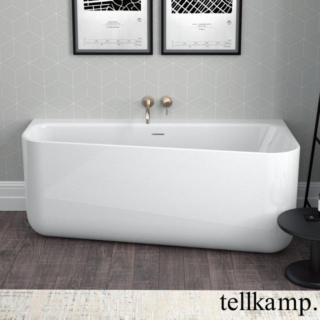 Tellkamp Koeko back-to-wall bath with panelling white gloss, without filling function