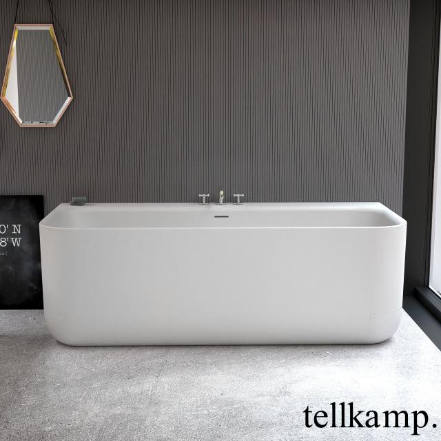 Tellkamp Koeno back-to-wall bath with panelling matt white, without filling function