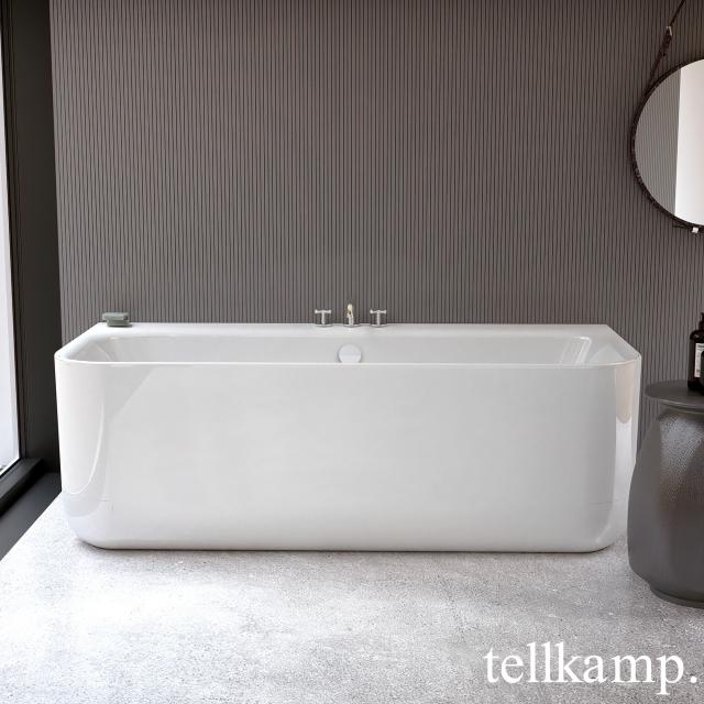 Tellkamp Koeno back-to-wall whirlbath with panelling white gloss