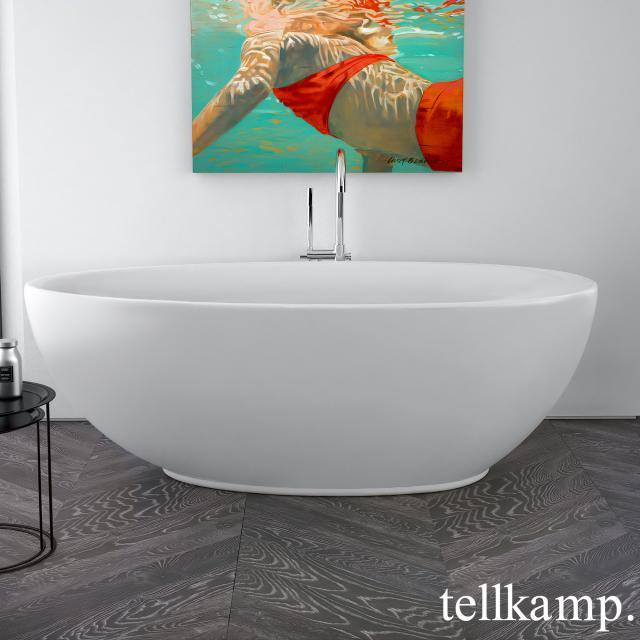 Tellkamp Neon freestanding oval whirlbath matt white, panel matt white