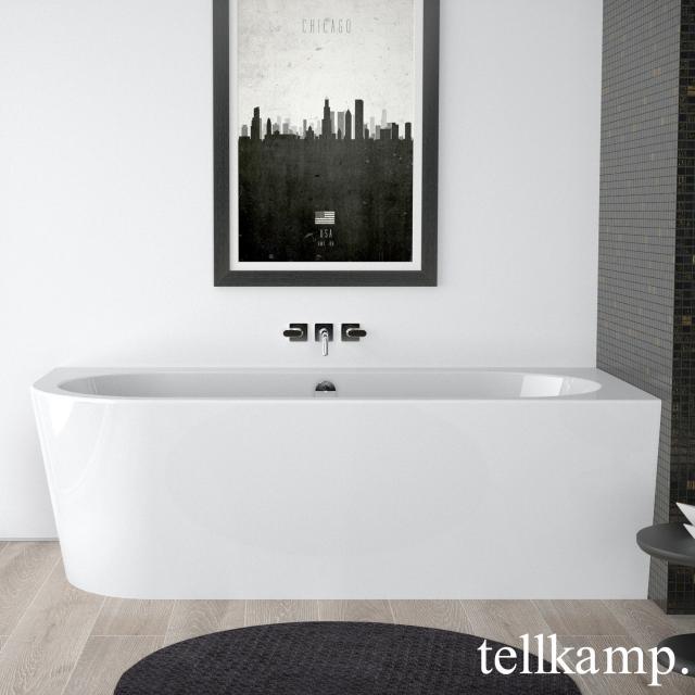 Tellkamp Pio corner whirlbath with panelling white gloss, panel white gloss