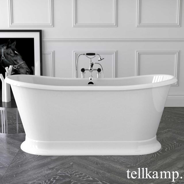 Tellkamp Scala Base freestanding oval bath white bath, chrome waste set