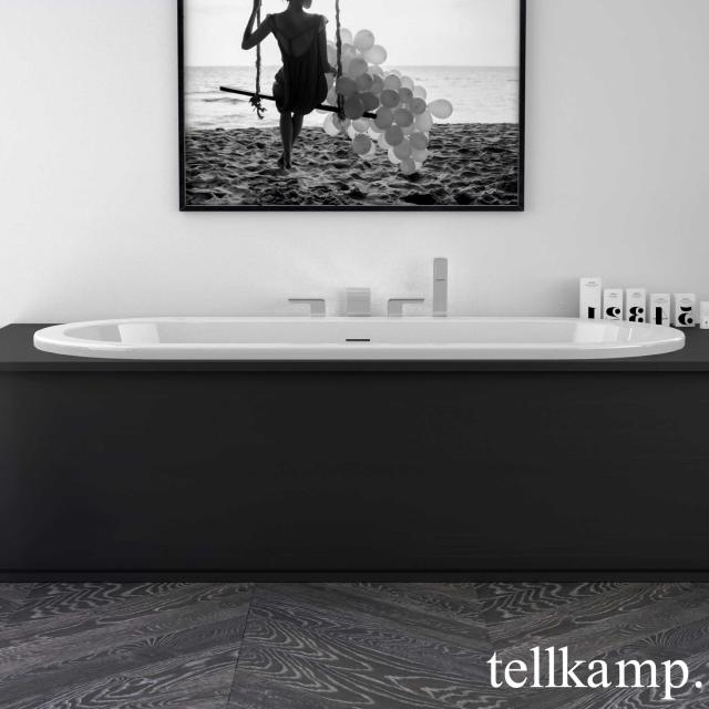 Tellkamp Solitär Fix oval bath white gloss, without filling function