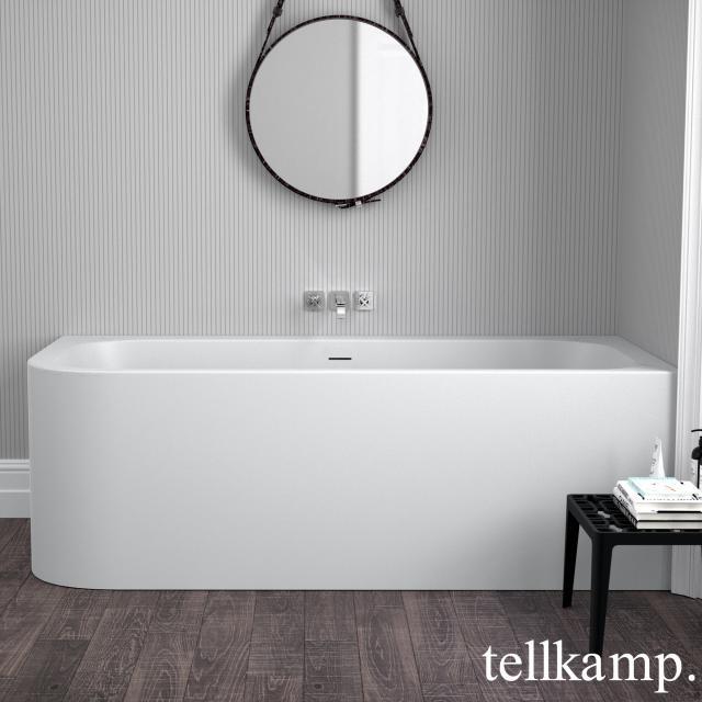 Tellkamp Thela corner whirlbath with panelling matt white