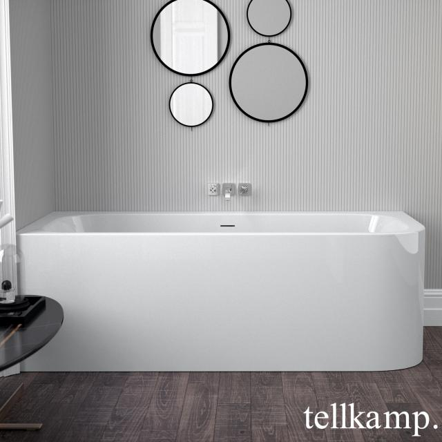 Tellkamp Thela corner bath with panelling white gloss, without filling function
