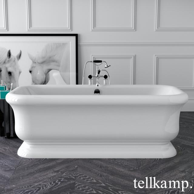 Tellkamp Vintage freestanding rectangular bath white gloss