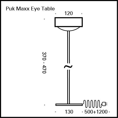 Top Light Puk Maxx Eye Table table light with dimmer, without accessories