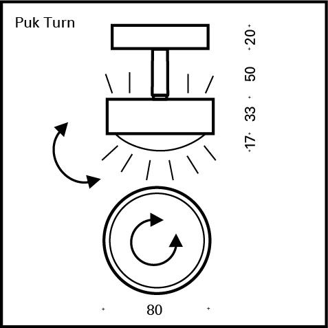 Top Light Puk Turn Up-/Downlight ceiling light without accessories