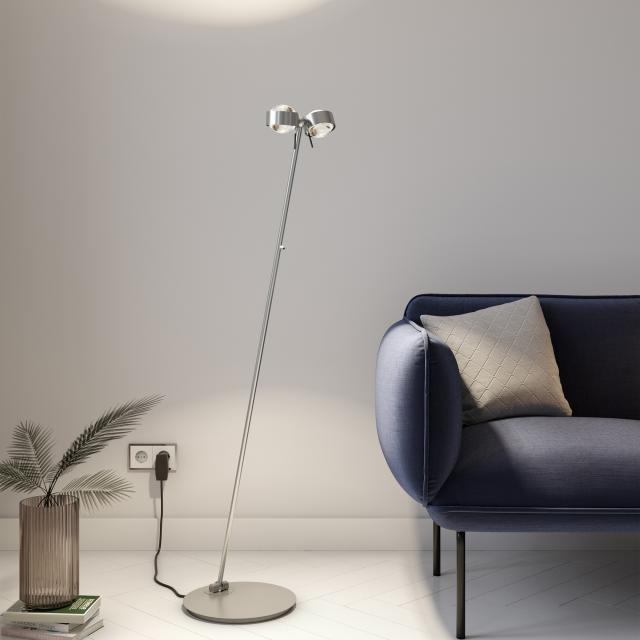 Top Light Puk Floor Mini Twin LED floor lamp with dimmer