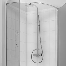 treos Series 175 shower system with overhead shower, wall-mounted