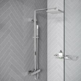 treos series 175 thermostatic shower system with overhead shower, wall-mounted