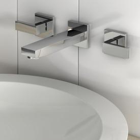 treos Series 175 wall-mounted three hole basin mixer