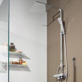 treos Series 178 thermostatic shower system with overhead shower
