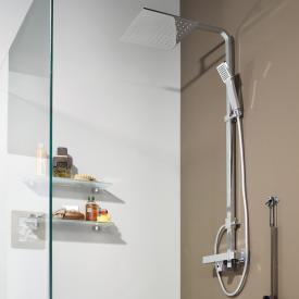 treos Series 178 thermostatic shower system with overhead shower, wall-mounted