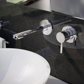 treos series 190 wall-mounted two hole basin mixer projection: 190 mm