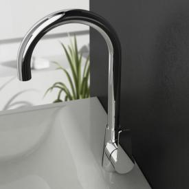 treos Series 191 single lever basin mixer, with pop-up waste set