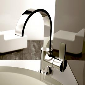 treos Series 195 single lever basin mixer, with pop-up waste set chrome